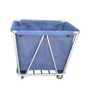 stainless steel laundry trolley